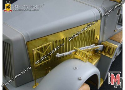 Griffon Model - L35A053 - Engine Compartment Update Set for WW II German Non-Armoured Cab Type Sd.Kfz.7 Series Vehicle