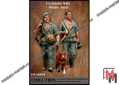 Evolution Miniatures - EM-35033 - American marines. WW2. Pacific ocean