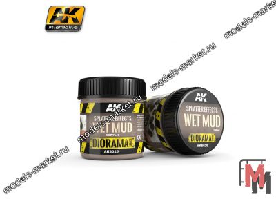 AK Interactive - AK-8026 - SPLATTER EFFECTS WET MUD - 100ml - Base product (Acrylic)