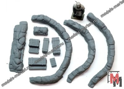 Value Gear - DP004 - Configurable Sandbags Curved + Crates 1/35