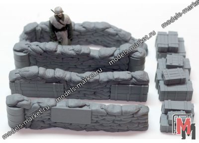 Value Gear - DP006 - Configurable Sandbags Checkpoint + Crates 1/35