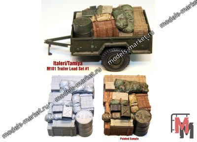 Value Gear - ITT01 - M101 Tamiya/Italeri Trailer Load #1