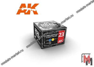 AK Interactive - RCS-023 - Набор красок Real Colors COMPLEMENTARY CLEAR COLORS