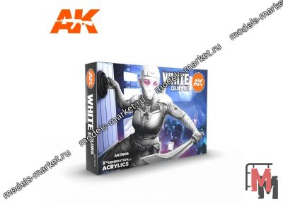 AK Interactive - AK-11609 - WHITE COLORS SET