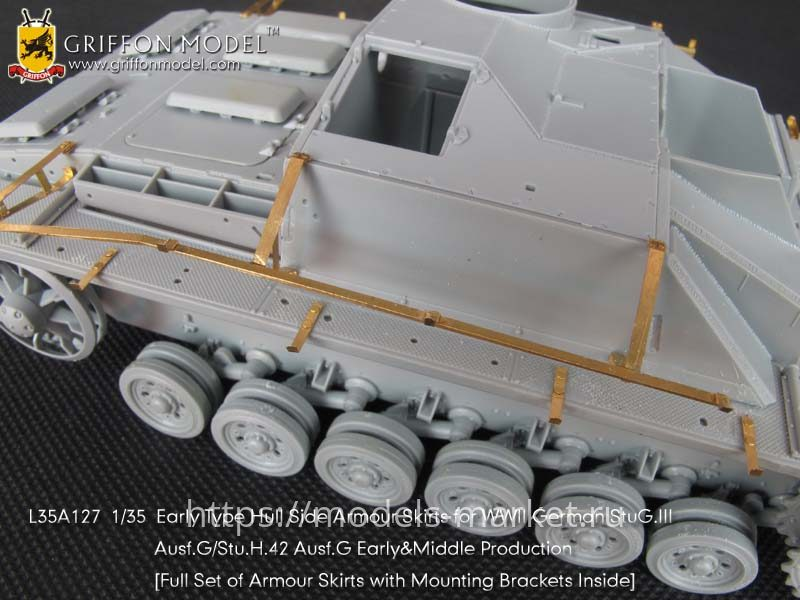 Griffon L35A127 1//35 Early Type Hull Side Armour Skirts for StuG.III Ausf.G